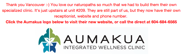 vancouver naturopathic medicine aumakua integrated wellness clinic phone number
